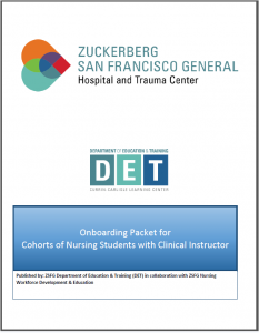 Onboarding Packet for Cohorts of Nursing Students with Clinical Instructor